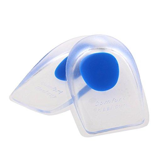 Aquiver 1 Par Taloneras de Gel Pad Gel silicona Shock cojín plantillas ortopédicas fascitis Plantar atención Plantillas Masajeadoras (azul)