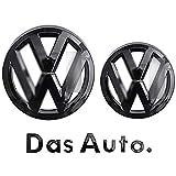 Emblema Con Logo Per Copertura Griglia/Adesivo in ABS Per Portellone Posteriore Per Volkswagen Golf 7 / Golf 7.5, Bright Black,Golf 7