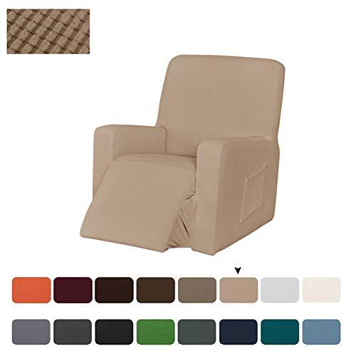 Sesselbezug Stretch, Sesselschoner Für Relaxsessel, Sesselüberwürfe Elastisch Bezug Für Fernsehsessel Liege Sessel, Liegestuhl Abdeckung (Sandfarbe)