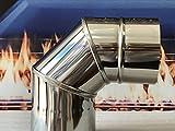 Weltlux Edelstahl Schornstein Premium Bogen Ofenknie Kaminrohr Ofenbogen Knie Rohr Heizung Schornstein Sanierung EW einwandig 90° Winkel starr 0,6mm Wandstärke T 600 (120 mm)
