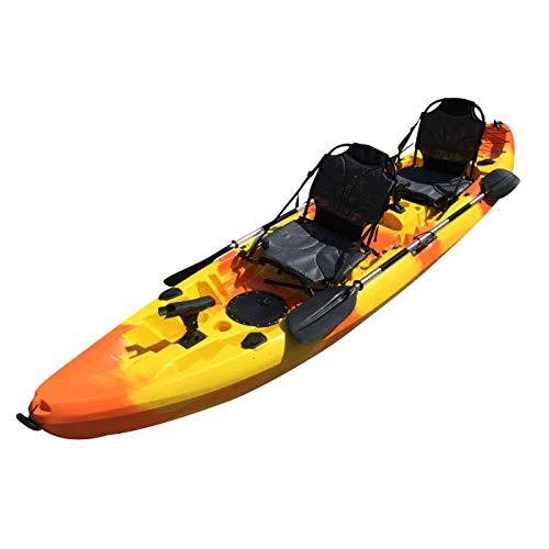 Cambridge Kayaks ES, Sun Fish TÁNDEM SÓLO 2 + 1,Naranja con Amarillo, RIGIDO