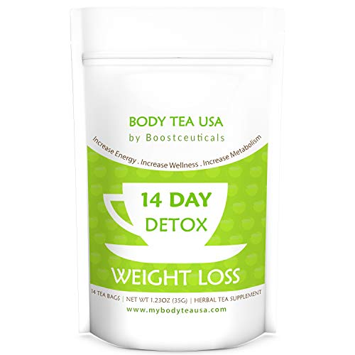 Teatox - Ideal Skinny Detox Tea For Weight Loss and Flat Belly Support by BoostCeuticals