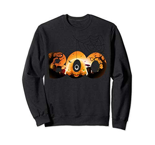 BOO Halloween Kostüm Spinnen, Geister, Kürbis & Hexenhut Sweatshirt