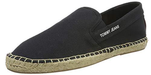 Tommy Hilfiger Tommy Jeans Flag Espadrille, Alpargata para Hombre, Negro (Dark Grey 990), 43 EU