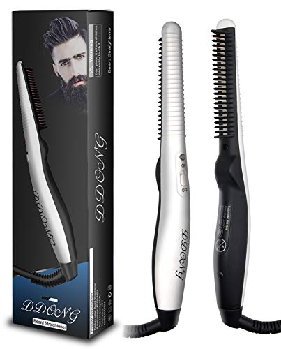 Beard Straightener Comb for Men,Hot Comb,Quick Electric Heated Beard Brush Styler,Travel Portable...