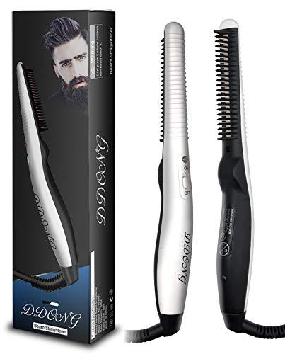 Beard Straightener Comb for Men,Hot Comb,Quick Electric Heated Beard Brush Beard Styler,Travel...