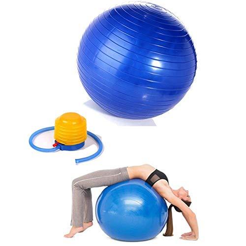 ATP Gymnastikball, Yoga-Ball, inklusive Pumpe, platzfest Blau 75cm