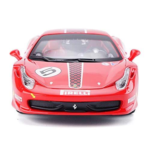 ZY Coche Modelo de Coche 1:24 Ferrari 458 Competencia versión de simulación de aleación de fundición a presión de Joyas de Juguete colección de Coches Deportivos joyería 19.5x8.3x5CM LOLDF1