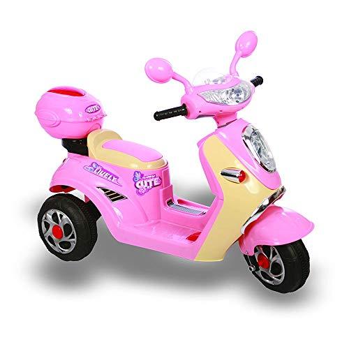 giordanoshop Moto Elettrica per Bambini 6V Kiddy Scooterone Rosa