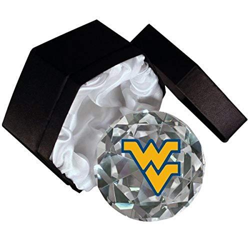 Sports Collector's Guild NCAA West Virginia University Bergsteiger Logo auf einem 4-Zoll hohe Brillance Diamantschliff Kristall Briefbeschwerer