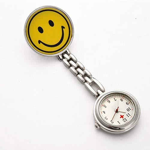 Hyy-yy. Krankenschwester Fob Watc Smiley Krankenschwester hängende Uhr Retro-Mode-Uhr männliche und weibliche Taschen-Uhr-Kursteilnehmer Taschen-Uhr-Business-Trend Ideal for Ärzte und Krankenschwester