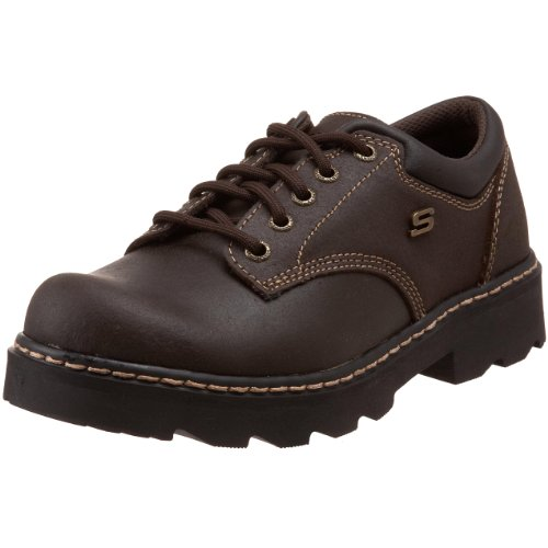 Skechers Women's Parties-Mate Oxford,Chocolate Suede Leather,8.5 M US