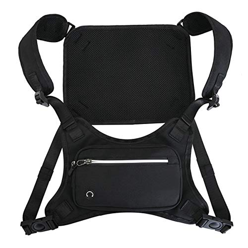 Chest Rig Bag For Men Women Fashion Hiphop Running Pack Pouch Holster Black