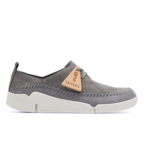 Clarks Tri Angel, Damen Low Top Sneakers, Grau (Grey/Blue Lea), 39 EU (5.5 Damen UK)