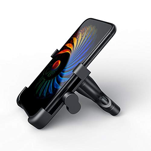 Suxman Soporte Moto Móvil, Bici, Bicicleta, Motocicleta Carretera de Aluminio, Anti Vibración con 360° Soporte Universal Antideslizante para iPhone X, 8/7/6s 6 Plus,Samsung Galaxy S9/S8/ S7,Negro (4