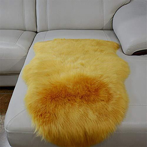 SHENGYUAN Alfombra de piel sintética, antideslizante, para dormitorio, sala de estar, alfombra...