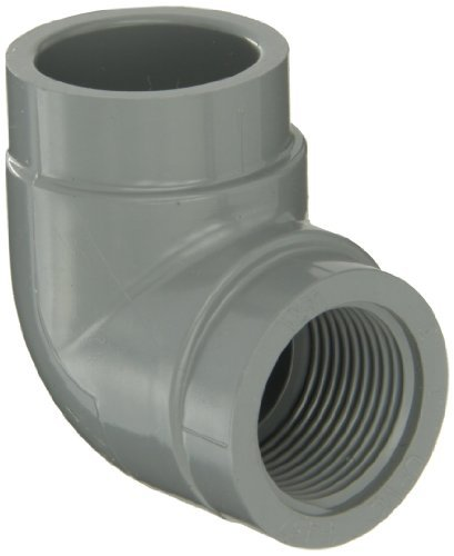 GF Piping Systems CPVC Pipe Fitting, 90 Degree Elbow, Schedule 80, Gray, 1 NPT Female x Slip Socket by GF Piping Systems