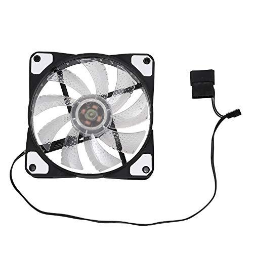 Wivarra 120mm Ordenador PC 16db Caja Ultra Silenciosa De 33 LED Ventilador Refrigerador Disipador Calor Enfriador con Goma AntivibracióN, Ventilador De 12 CM, 12VDC 3P IDE 4pin Blanco