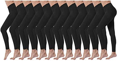 24 Pack in Black Wholesale Women s Fleece Lined Bulk Leggings Women s Stretchy Thermal Jogger product image