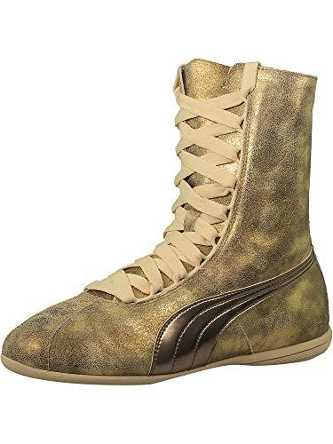 PUMA Womens Eskiva High Metallic Casual Sneakers, Gold, 8