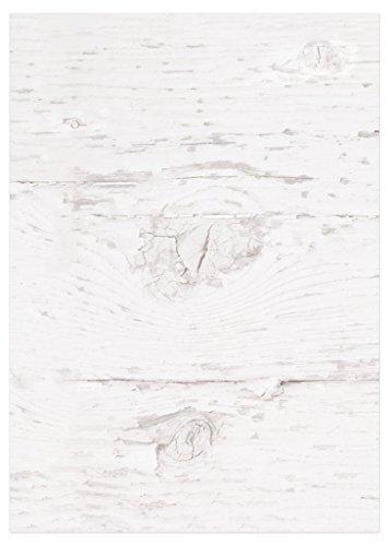 100 Blatt Briefpapier Druckerpapier blanko alt WEISS HOLZ-Optik beidseitig bedruckt 100g Schreibpapier Motiv-Papier DIN A4 Brief-Bogen altweis rustikal shabby vintage Papier