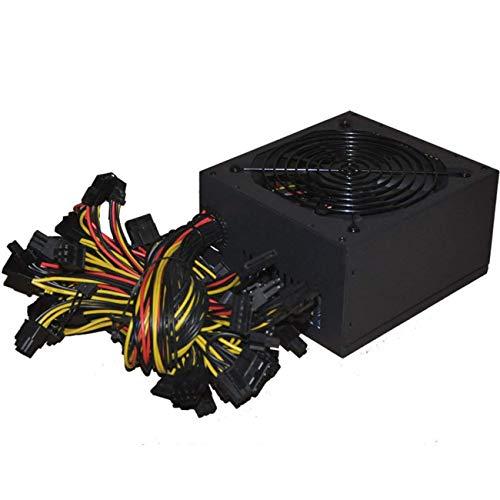 Ashley GAO 1800W ATX Modular Mining PC Fuente de Alimentación Soporta 6 Tarjeta Gráfica 160-240V Fuente de Alimentación Soporte de la Máquina Minera