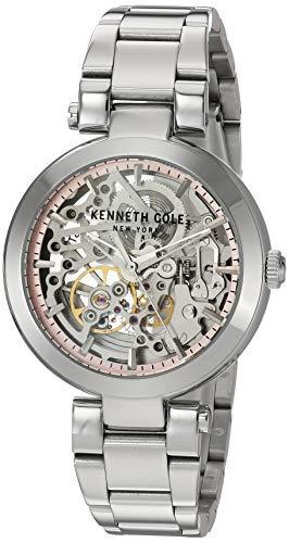 Kenneth Cole   Mujer automatica   Pulsera de Acero Inoxidable   Esfera Plateada KC50799001
