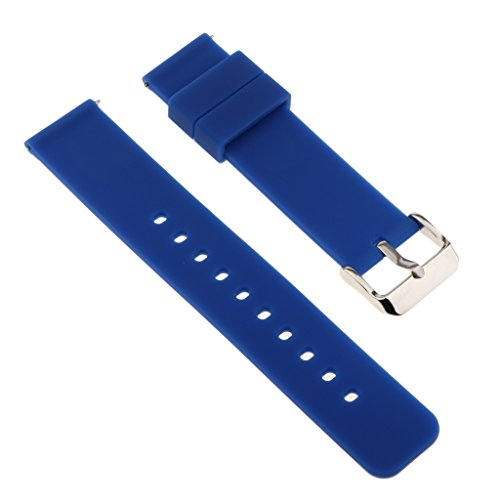 Baoblaze Uhrband Watch Strap Top Silikon 20mm Uhr Armband Watch Band für Herren Damen - Blau
