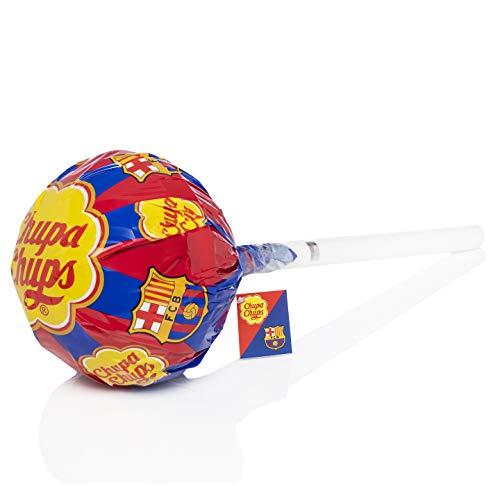 Chupa Chups Gigante, Edición FC Barcelona, Caramelo con Palo de sabores a Fresa y Cola, 40 unidades de 12gr. (Total 480 gr.) 480 g