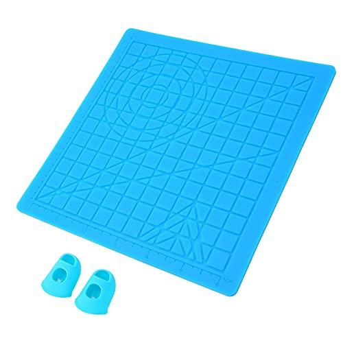 Gatuxe Estera del diseño del silicón de la Pluma de la impresión 3D, Estera Duradera de la Pluma de la impresión 3D Plegable para la Impresora 3D para los niños para los Adultos