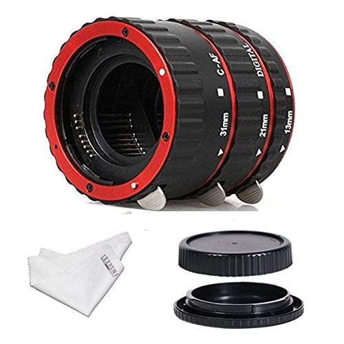 INSEESI Macro Lens Extension Tube with Lens Body and Rear Cap for Canon EOS EF Canon1D 1Ds Series 7D 5D 5DMarkII 5DMark III etc Lens