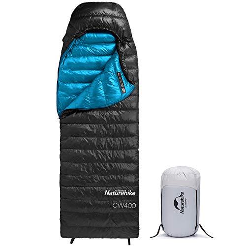 Naturehike Daunenschlafsack,Ultraleichte Kompackte Gänsedaunen Schlafsack für Camping Wandern mit Kompressionssack 3-4 Jahreszeiten