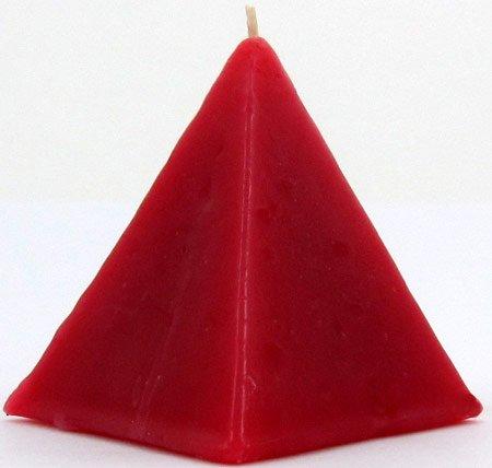 Red 3 INCH CINNAMON SCENTED PYRAMID RITUAL SCENTED CANDLE - Love, strengthen bonds - Piramida Roja para el amor