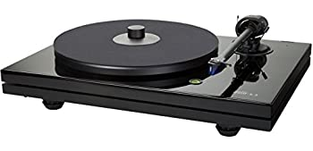 Music Hall MMF-5.3 Series Audiophile Turntable with Pre Mounted Ortofon 2M Blue Cartridge and Premium Carbon Fiber Tonearm  High-Gloss Black