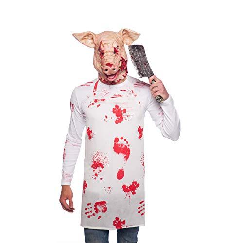Folat 23831 - Mscara de ltex, diseo de cerdo de Halloween, multicolor