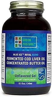 BLUE ICE Royal Butter Oil/Fermented Cod Liver Oil Blend Gel - Non Flavored, 8.1 fl. oz.