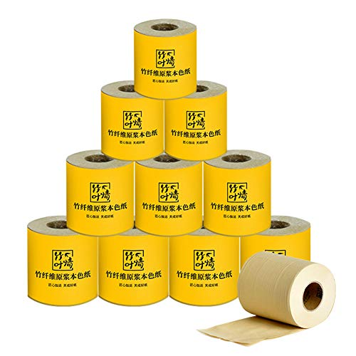 CHENYAO Huishoudelijke Kern Papierrol Bamboe Pulp Natuurlijke Kleur Wc-papier Geen Afdrukken Wc-papier Papieren Handdoek (90g / Rol X24 Rol)