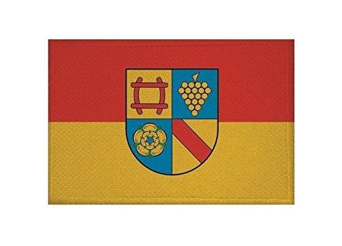 U24 Aufnäher Landkreis Rastatt Fahne Flagge Aufbügler Patch 9 x 6 cm