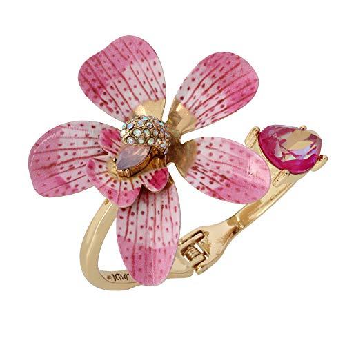 Betsey Johnson Orchid Bangle Bracelet