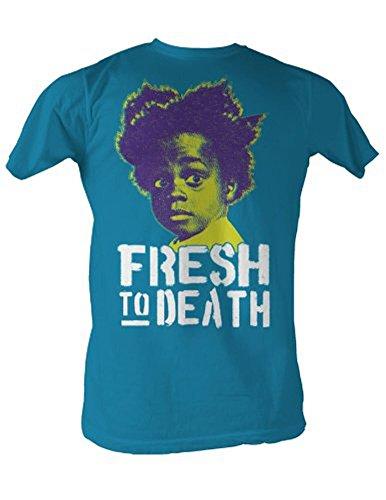 Buckwheat T-Shirt Fresh to Death Adult Turquoise Tee Shirt (XL)