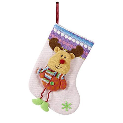 ADKY ADKYWeihnachtsschmuck Weihnachtsmann Socken Weihnachtsbaum Anhänger Weihnachtssocken Geschenktüte Weihnachtstüte