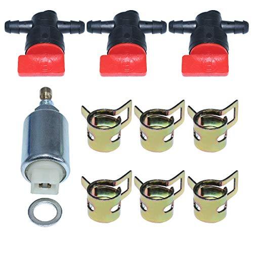 Buy Bargain AUMEL 794572 796109 Carburetor Fuel Solenoid w/Cut Off Valve Clamps Kit for Briggs & Str...