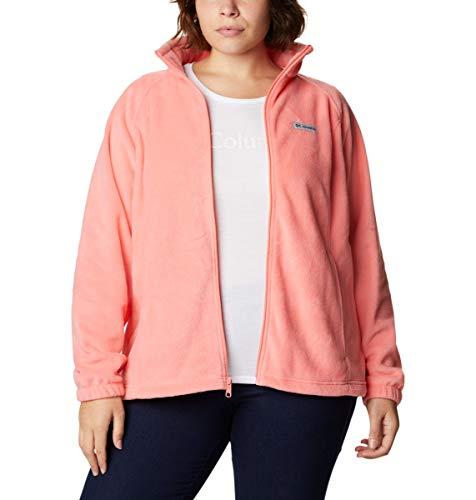 Columbia Benton Springs Full Zip Forro polar, Colores salmón, XL chiquita para Mujer
