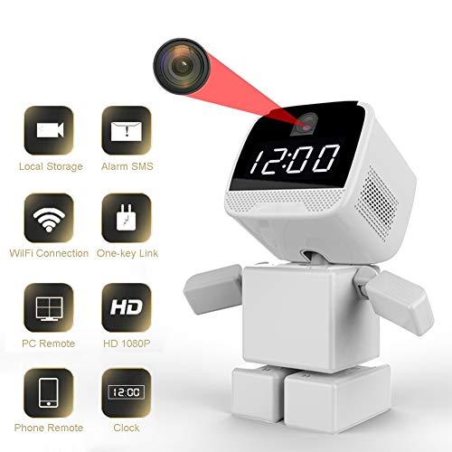 Traioy WiFi Oculto Cámara Seguridad, 1080P HD Inteligente Robot Cámara Inalámbrica, Sistema Vigilancia Seguridad con Detección Movimiento Visión Nocturna Monitor Remoto para El Hogar,128g