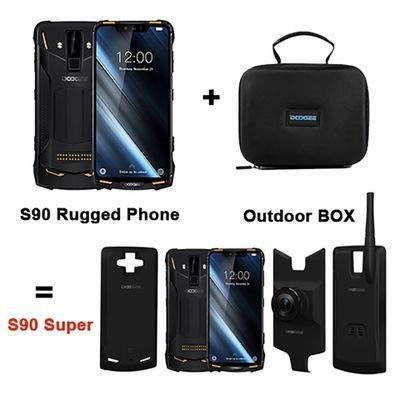 Doogee s90-6.18 'FHD + 4G smartphone al aire libre, 5050mah IP68 / IP69K resistente al agua / a prueba de polvo y a prueba de golpes, helio P60 6GB + 128GB, 16MP + Classic + 8MP Camera, un modo de juego / Wireless