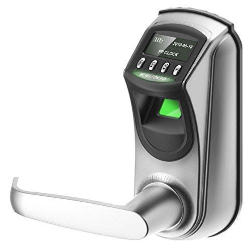 Cerradura Inteligente & Biométrica con cerrojo de doble cilindro - ZKTeco L7000S (GER) - Smart Lock con lector de Huellas Dactilares + Pantalla tactil LED - Registro de entradas - Sin tarjetas.