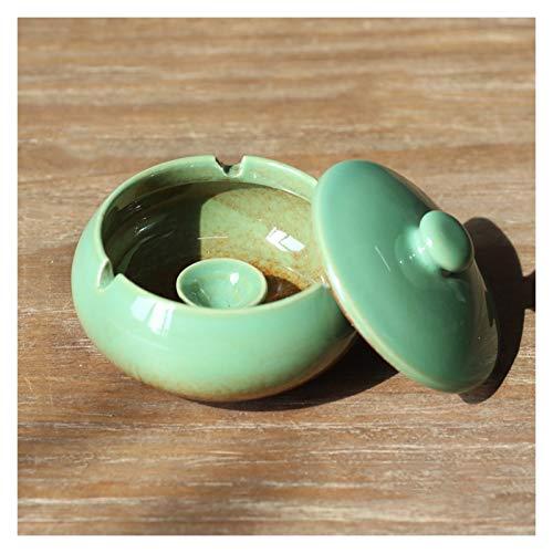 wantanshopping Soporte de Ceniza Cenicero con Tapa Anti-Ash Retro cenicero hogar Sala de Estar cerámica Oficina cenicero Mejor opción para Regalos (pequeños y delicados) decoración (Color : E)