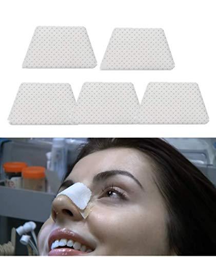 Férulas nasales termoplásticas, protector de apoyo nasal externo para cirugía de rinoplastia, fractura de la nariz, ENT, inmovilización ortopédica (B), 5pcs-M