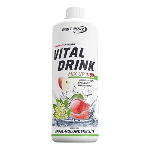Best Body Nutrition Vital Drink Apfel-Holunderblüte, Getränkekonzentrat, 1000 ml Flasche