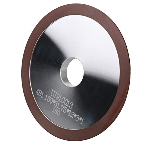"Resin Diamond Grinding Facing Wheel/Circle Saw Grinding Wheel, OD 6"" x Arbor Hole 1-1/4',180 Grit for Carbide Circle Saws,1 Pack"